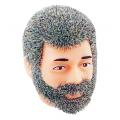Cabeça Jake cabelo grisalho com barba - Cotswold